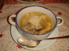 鳥皮スープ