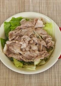 【主菜】豚肉とキャベツの蒸し煮