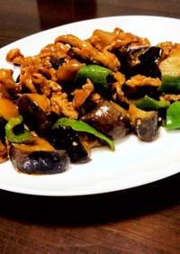 夏野菜の豚味噌炒め
