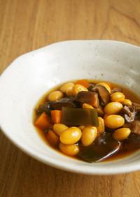 電気圧力鍋で大豆の煮物♪簡単!楽ちん!
