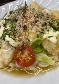 小海老の天ぷらサラダうどん