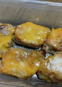 簡単お弁当☆豚ヒレ肉のチーズ焼き
