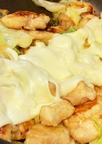 鶏胸肉とキャベツのチーズ焼き