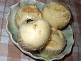 りんごとレーズンの蒸しパン