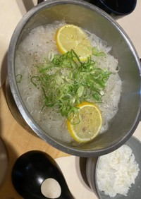 大根と蓮根のトロトロ塩鍋