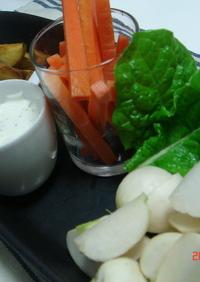 ③種野菜のスティック~チーズソース~