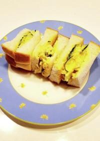 簡単☆味玉ときゅうりのサンドイッチ
