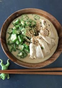 パパッとピリ辛冷やし麺☆ミルクチキン麺