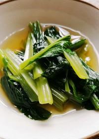 顆粒だしで簡単!小松菜のお浸し
