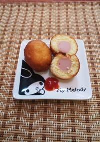 魚肉ソーセージのアメリカンドック
