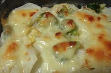 ★白菜とブロッコリーのマヨチーズ焼き★