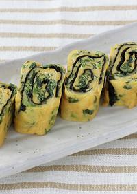 ほうれん草と海苔の卵焼き(寿司はね)