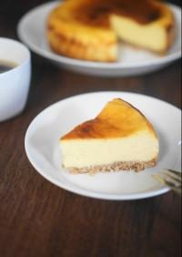オーツミルクで♥ベイクドチーズケーキ