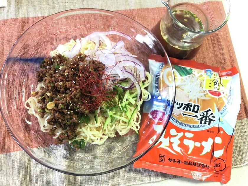 冷やしサッポロ一番味噌ジャージャー麺