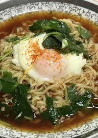 レンジゆで卵サッポロ一番味噌冷しラーメン