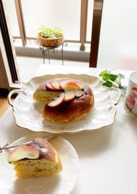 バナナとりんごのHM炊飯器ケーキ