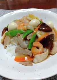 中華丼(薄味ですが、よい味がでました)