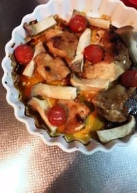 鶏ふりそで醤油麹漬けグリル