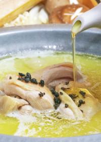 鶏油香る生胡椒水炊き