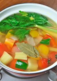 リメイク料理のベースになる「野菜スープ」