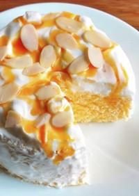 電子レンジで作る低糖質な生おからケーキ