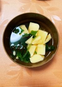 たまご豆腐のすまし汁
