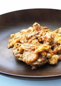 豚肉と豆腐のキムチ炒め