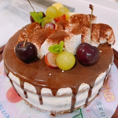 ティラミスケーキ☆ドリップケーキ