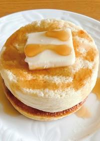 ふわふわプロテインスフレパンケーキ