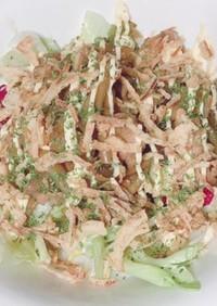キノコと鶏肉の照り焼きサラダ