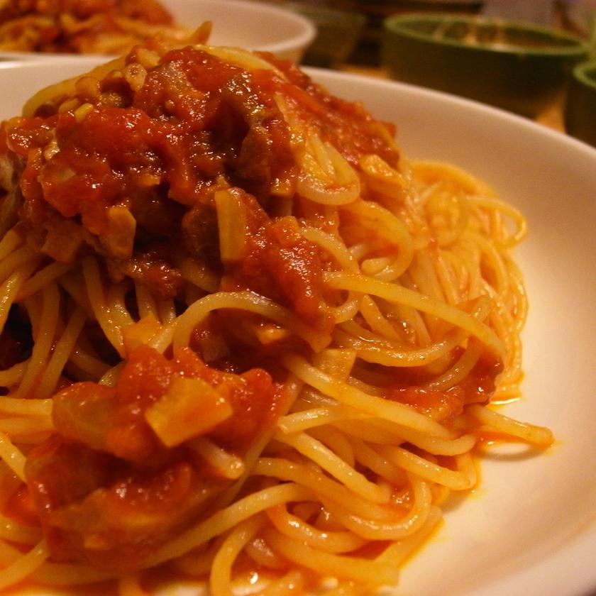 門外不出のトマトパスタ1万レポ感謝!