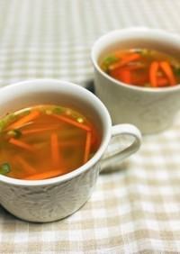 減塩!大根とにんじんの豆板醬入りスープ