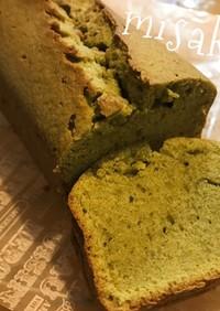 簡単☆緑茶のパウンドケーキ