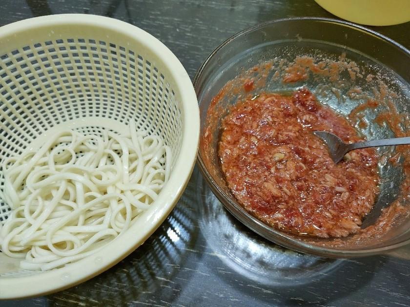 トマトとツナのつけ麺