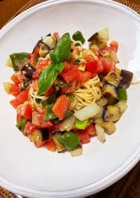 ひんやりおいしい〜夏野菜の彩り冷製パスタ