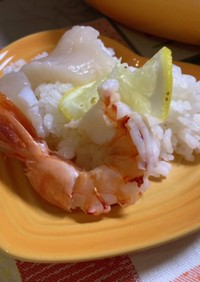 帆立と海老のレモン寿司