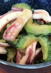 副菜♡作り置き♡ゴーヤとイカの酢味噌和え
