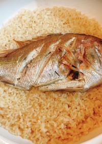 鯛めし in 土鍋