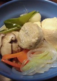 鶏と鶏玉団子の鍋