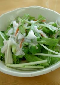 おくらと水菜のねばしゃきサラダ(透析食)