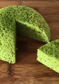 レンジで低糖質な抹茶おから蒸しケーキ