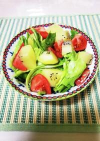 キウイ入り野菜サラダ