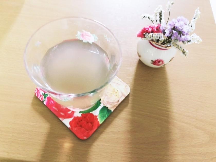 りんご酢と重曹のドリンク♡