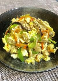 具沢山、炒り豆腐、簡単調味料