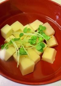 卵豆腐のすまし汁★白だしで簡単♪