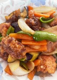 唐揚げアレンジ!鶏と野菜の甘酢炒め