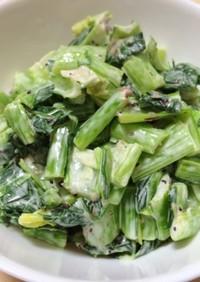 簡単おかず:小松菜のマヨネーズ和え