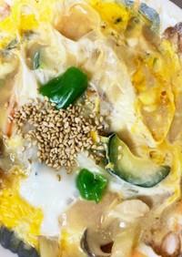 根菜チクワ味噌炒煮味スペイン風味オムレツ
