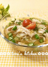 夏は冷やして冬は暖か☘️フォー風スープ麺