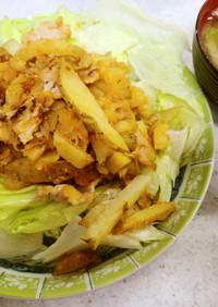 ✨豚肉のジャガイモ炒め&ネギの味噌汁✨